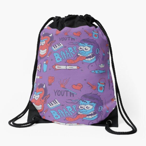 Life Sucks pattern #5 Drawstring Bag