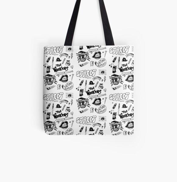 Street graffiti black traditional flash set illustration All Over Print Tote Bag
