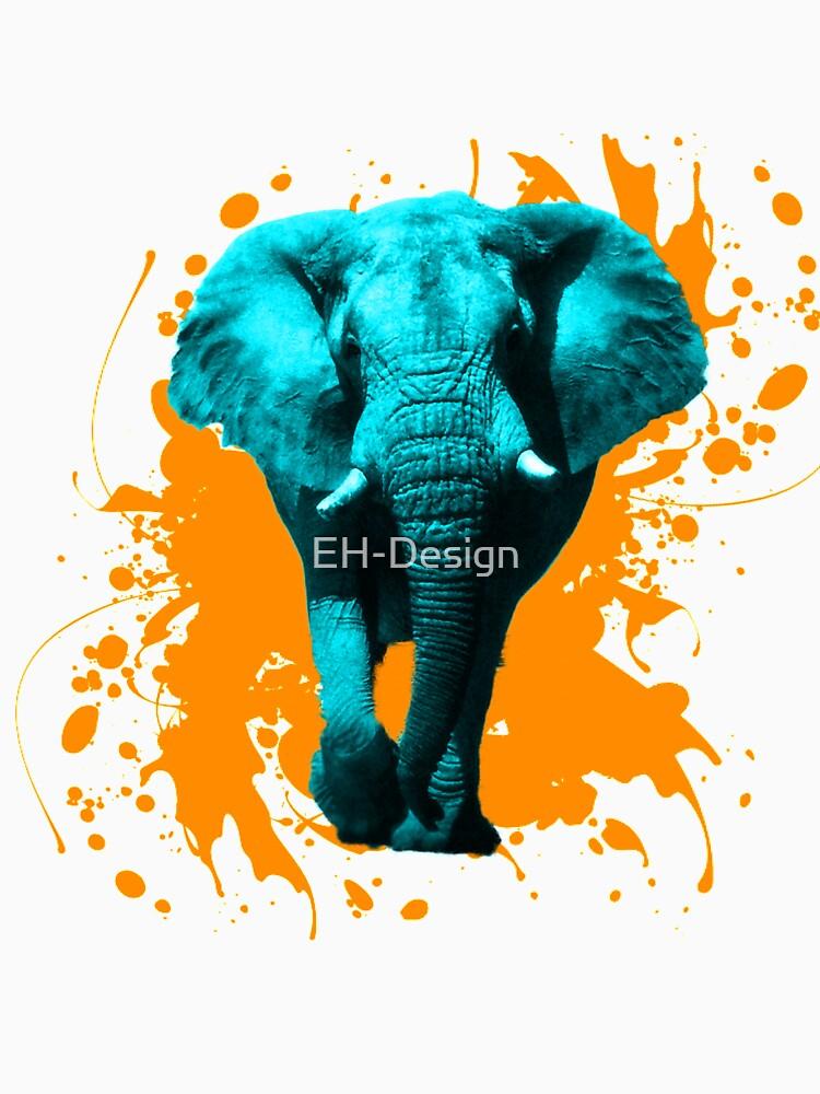Elefant in Türkis von EH-Design