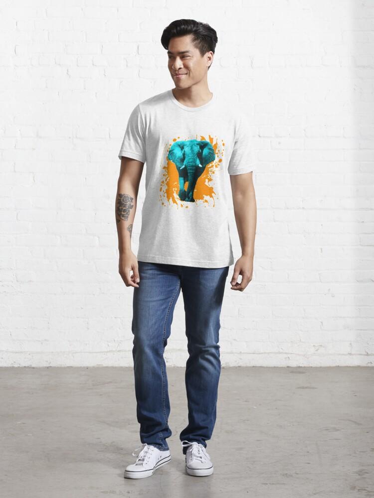 Alternative Ansicht von Elefant in Türkis Essential T-Shirt