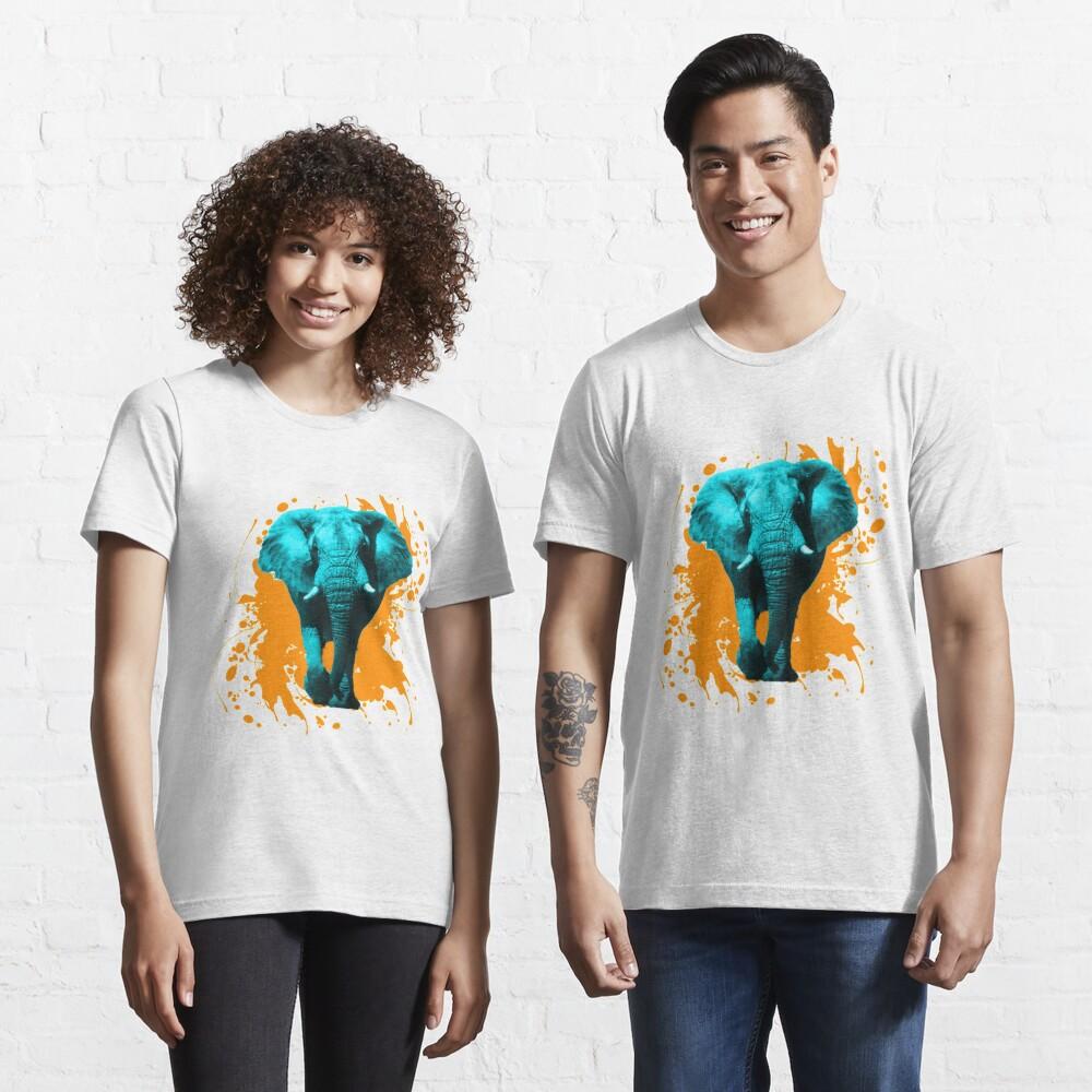 Elefant in Türkis Essential T-Shirt