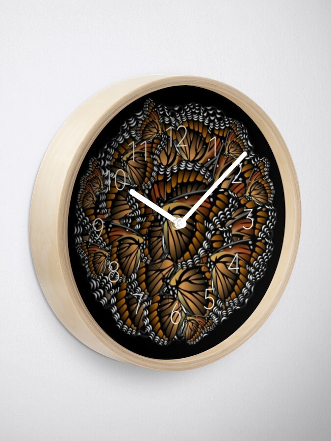 Alternate view of Save Monarchs—Plant Milkweed Clock