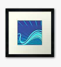 Blue waves vector Framed Print