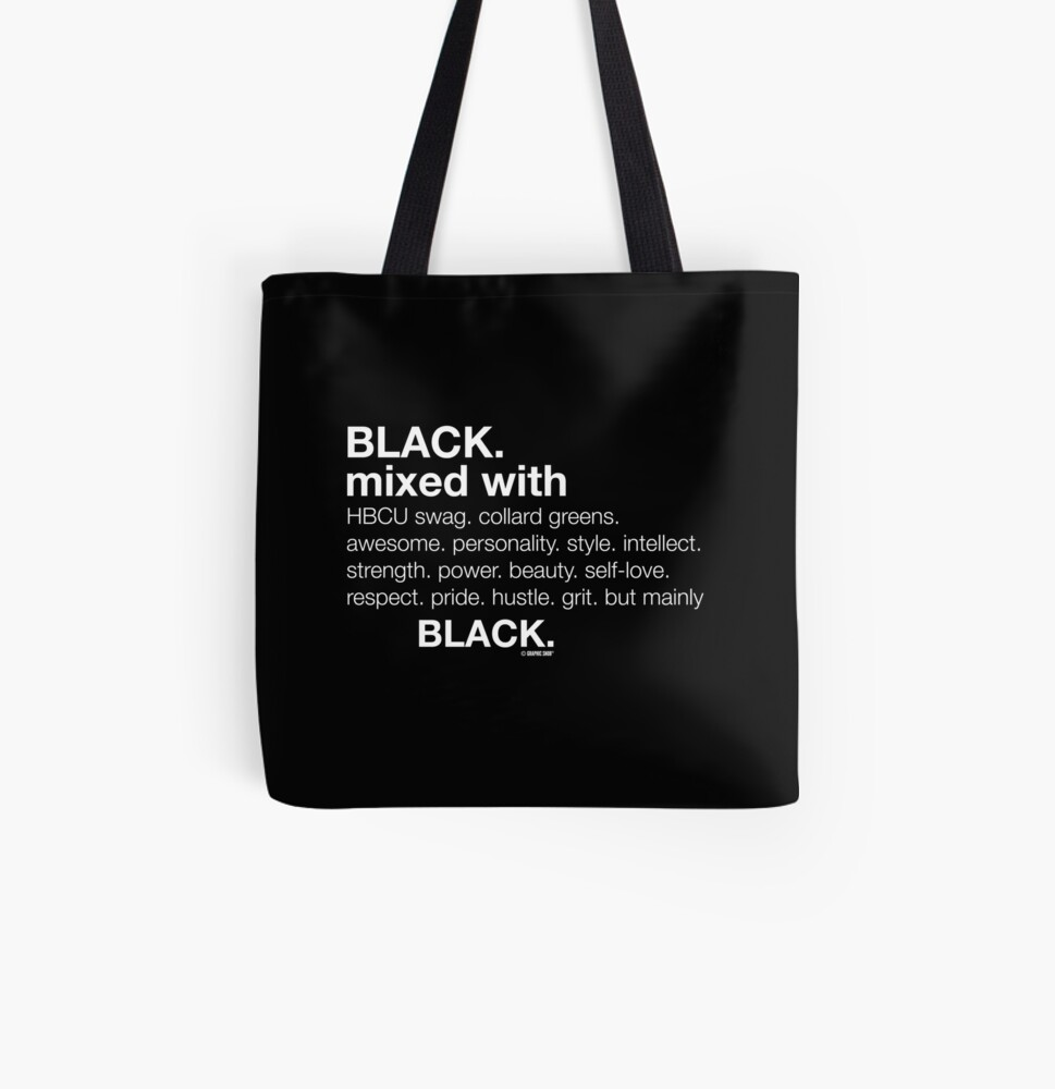 Black Mixed With...  All Over Print Tote Bag