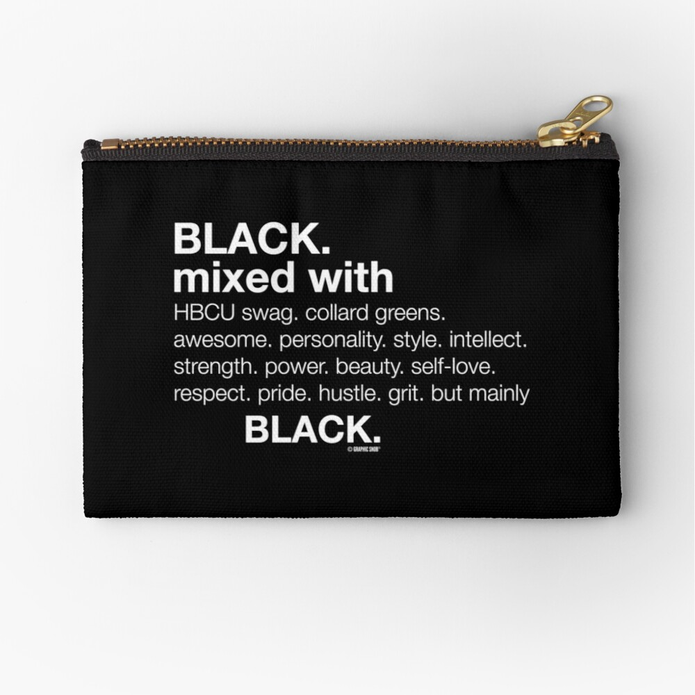 Black Mixed With...  Zipper Pouch