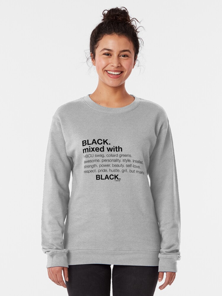 Alternate view of Black Mixed With... Black Pullover Sweatshirt