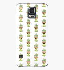 kotzendes Emoticon Cupcake Hülle & Klebefolie für Samsung Galaxy