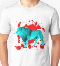 Löwe in Türkis Unisex T-Shirt