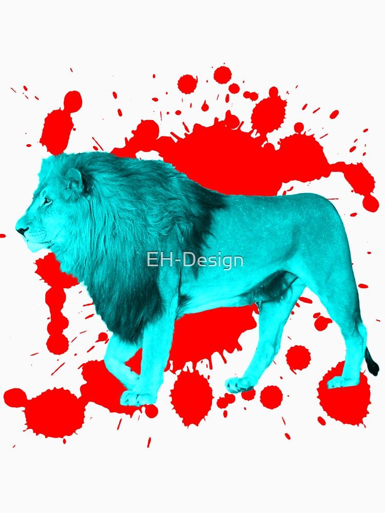 Löwe in Türkis von EH-Design