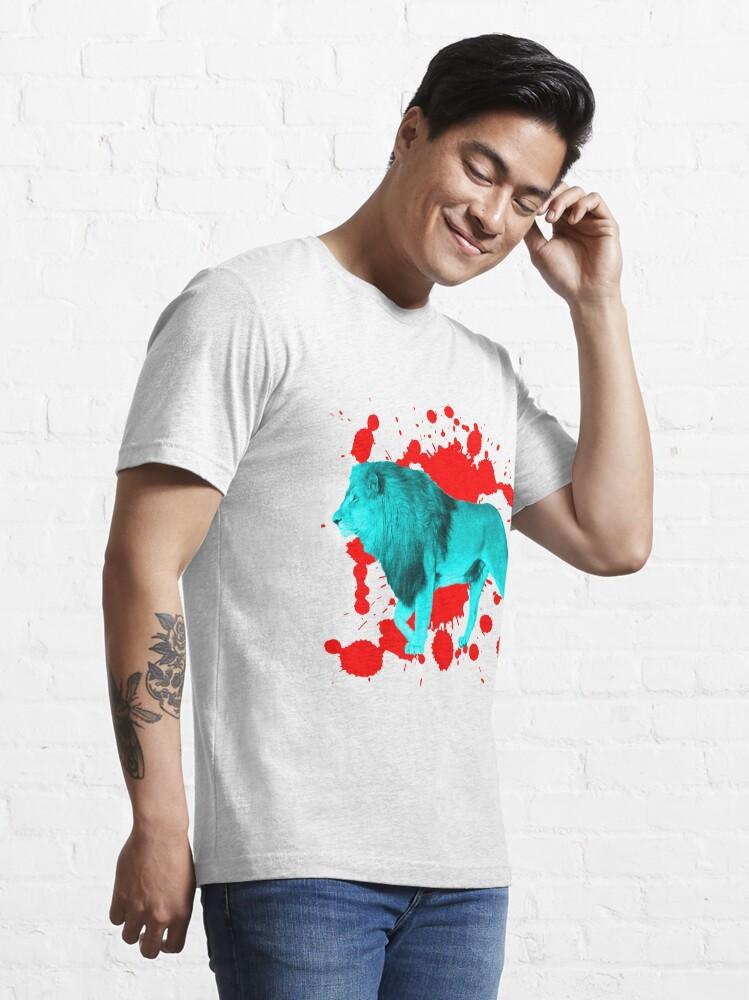 Alternative Ansicht von Löwe in Türkis Essential T-Shirt