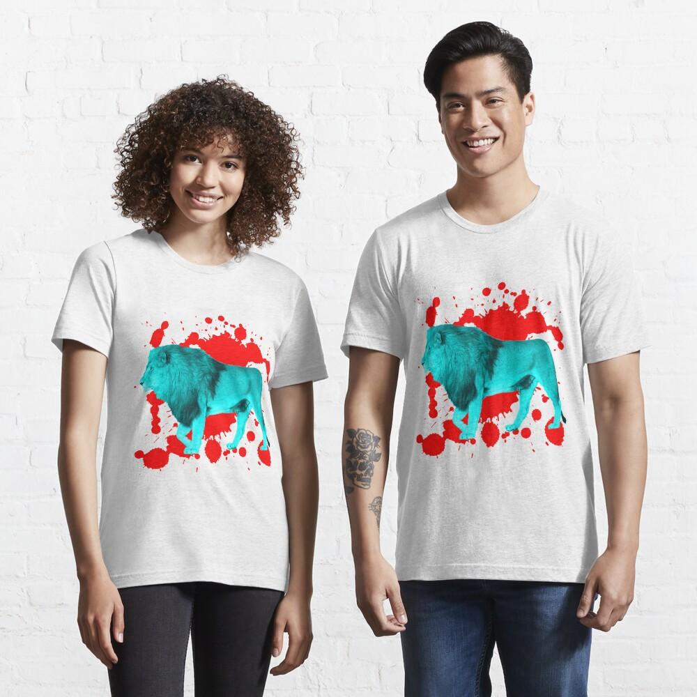 Löwe in Türkis Essential T-Shirt