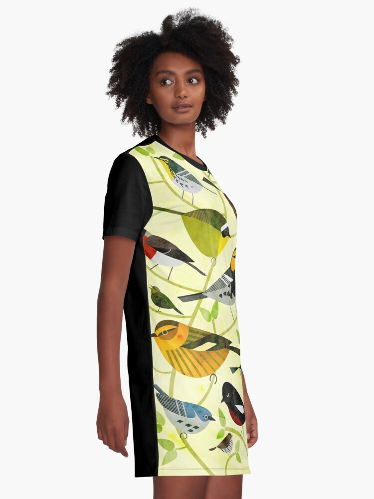 Alternate view of New World Warblers 2 Graphic T-Shirt Dress