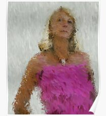 pink frills Poster
