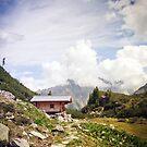 Die Hütte in den Bergen von thomasrichter