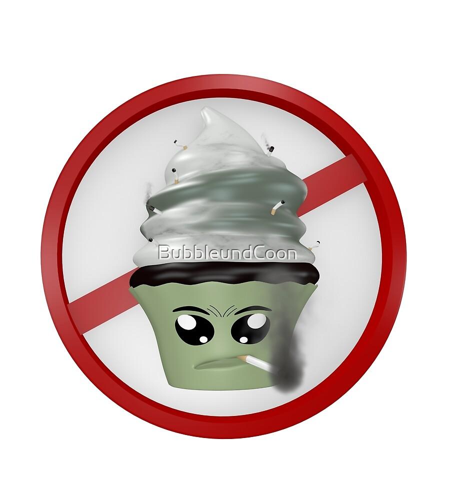 rauchendes Cupcake Emoticon von Stefanie Keller