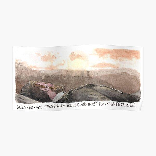 Arthur Morgan Watercolour  Poster