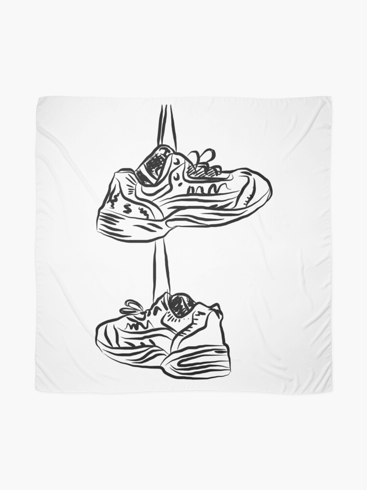 Alternate view of Pair of hanging running shoes Scarf