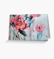 Pink Camellias Greeting Card