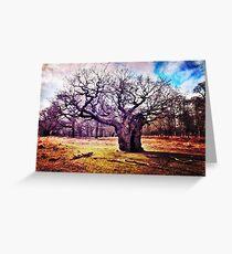 Ancient Oak Tree, Richmond Park, London Greeting Card