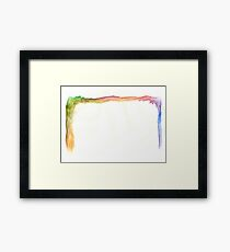 Water Color Rainbow Framed Print