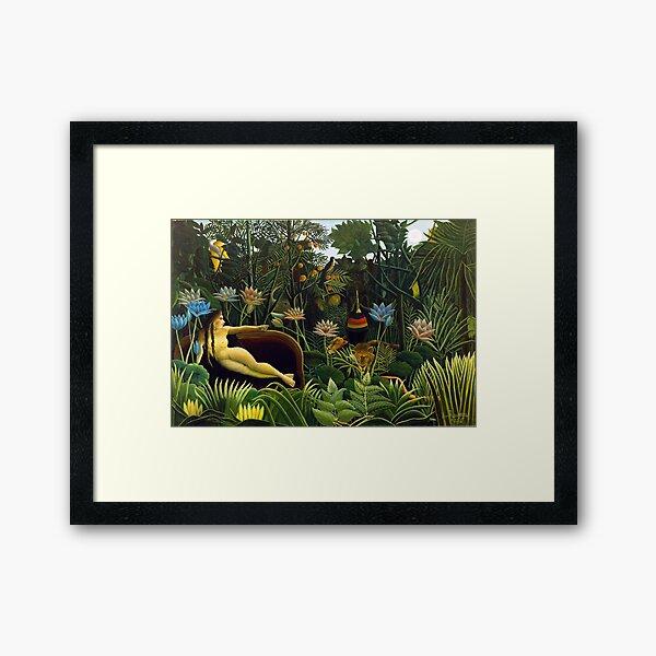 The Dream by Henri Rousseau (1910) Framed Art Print