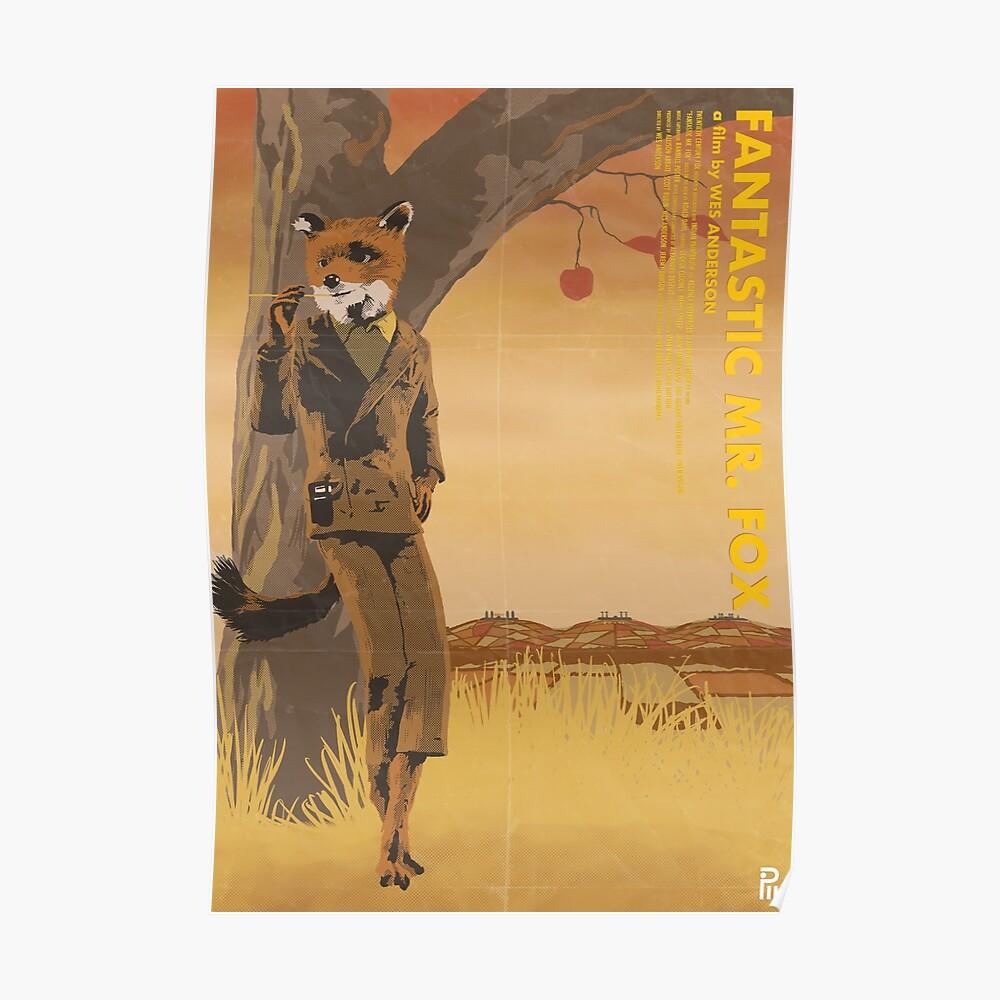 Fantastic Mr Fox Art Print By Pwhiteboard Redbubble