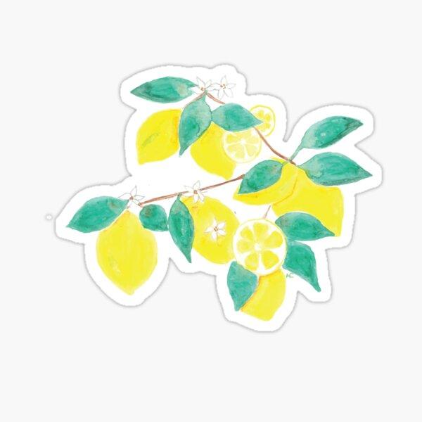 Lemon fruits , leaves and flowers Sticker