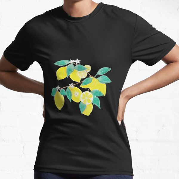 Lemon fruits , leaves and flowers Active T-Shirt