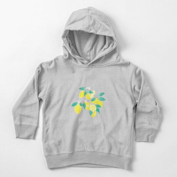 Lemon fruits , leaves and flowers Toddler Pullover Hoodie