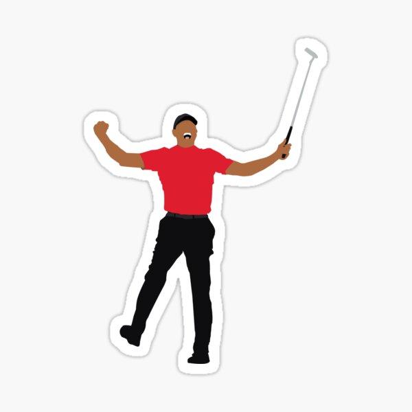 Tiger Woods Masters Win minimalist Sticker