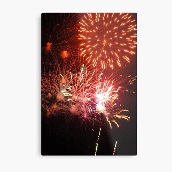 Fireworks! (2) Rockets' Red Glare Metal Print