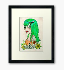 Psychobilly Babe Framed Print