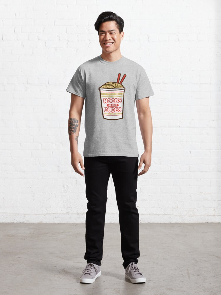 Alternate view of Noods Before Dudes in pink Classic T-Shirt