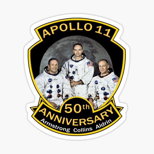 NASA Apollo 11 Anniversary Armstrong Collins Aldrin Sticker