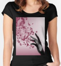 Flower Petals with Metal Hand Fitted Scoop T-Shirt