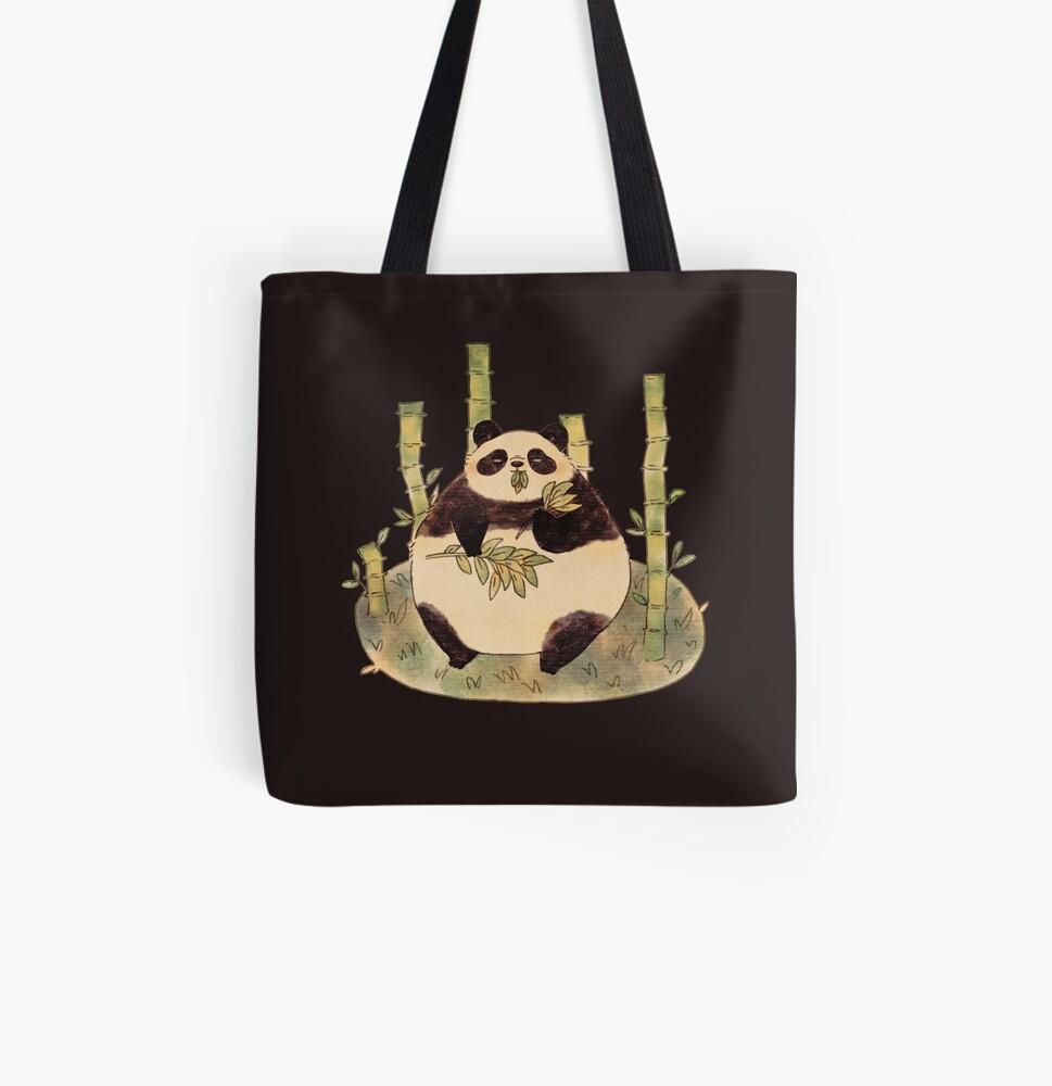Chubby Panda All Over Print Tote Bag