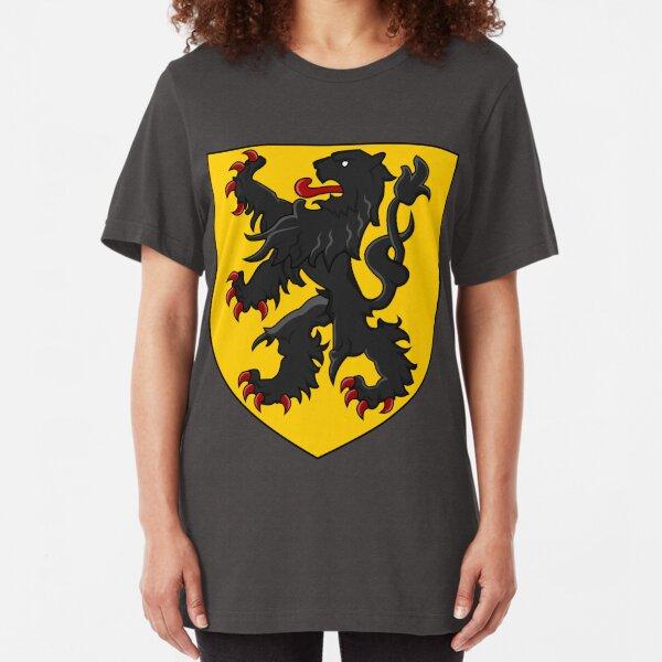 Flanders - Coat of Arms Slim Fit T-Shirt