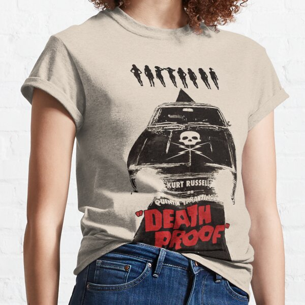 Death Proof Movie Poster Written And Directed By Quentin Tarantino Spanish Version Artwork, Posters, Prints, Tshirts, Mugs, Bags, Women, Men Classic T-Shirt