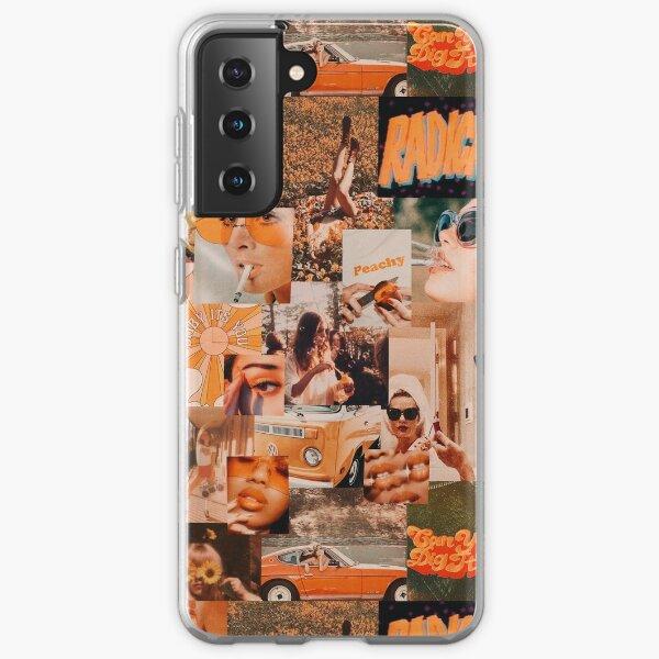 Vintage Orange Aesthetic Collage Samsung Galaxy Soft Case