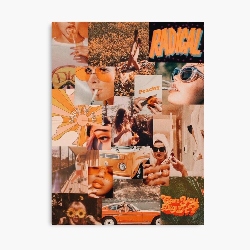 Vintage Orange Aesthetic Collage Art Board Print By Micdoom Redbubble