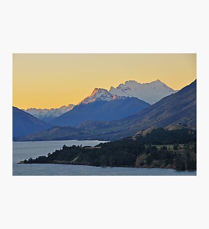 Dusk on Lake Wakatipu Photographic Print