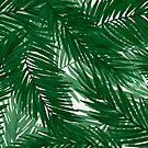 Gemalte Palmen - Originaldruck von Royal Sass