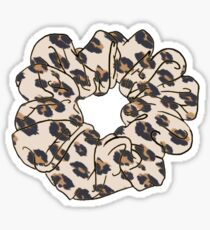 cheetah print scrunchie Sticker