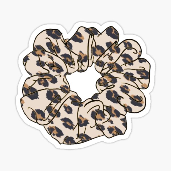 cheetah print scrunchie Sticker