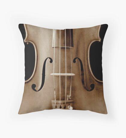 copy of Stradivarious 'Soil' 1714 (sepia) © 2010 patricia vannucci  Throw Pillow