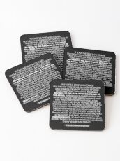 The Man in the Arena / Daring Greatly Quote - Theodore Roosevelt Coasters