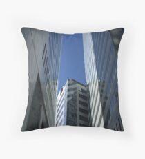 Skyscraper Canyon Throw Pillow