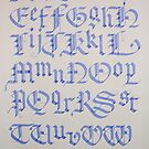 Old English Blackletter Alphabet by billgrant43