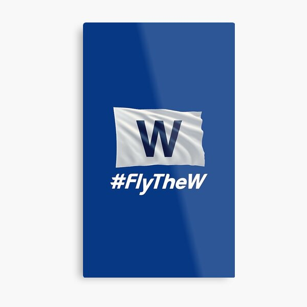Cubs Fly the W Metal Print