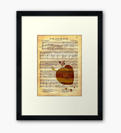 It was a Lover and His Lass Framed Print